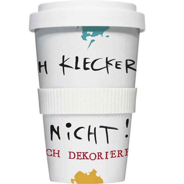 coffee to go becher 39 ich klecker nicht 39. Black Bedroom Furniture Sets. Home Design Ideas