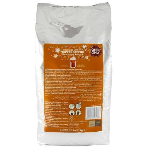 one&only Frappe Pulver Toffee Coffee 1000g